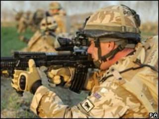 駐阿富汗英軍士兵