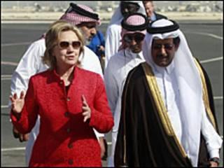 Hillary Clinton en Qatar