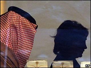 La secretaria de estado de EE.UU., Hillary Clinton, durante su visita a Arabia Saudita.