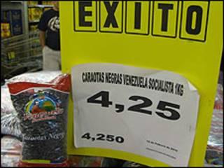 Productos en los supermercados Bicentenario, antes llamados Éxito