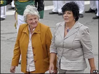 Las líderes parlamentarias, Lucia Topolansky e Ivonne Passada.