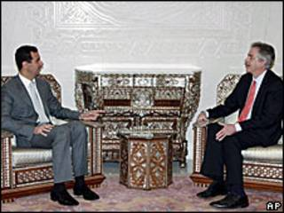 بشار الاسد ووليام بيرنز في دمشق