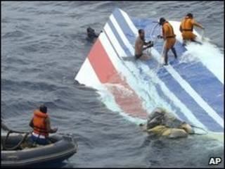حطام الطائرة الفرنسية