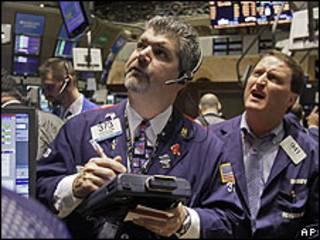 Bolsa de Valores en Nueva York.