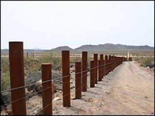 Frontera entre Arizona y México. Archivo