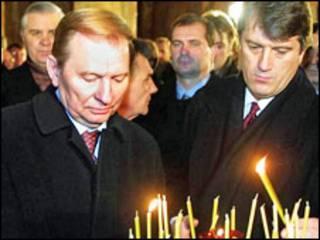 Президент Кучма і прем'єр Ющенко, 2000 рік