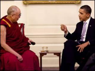 O Dalai Lama e o presidente dos EUA, Barack Obama. Foto: Casa Branca/ Pete Souza