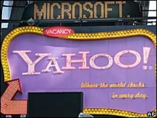 Avisos de Microsoft y Yahoo