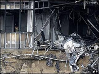 Edificio donde se estrelló el avión en Austin, Texas