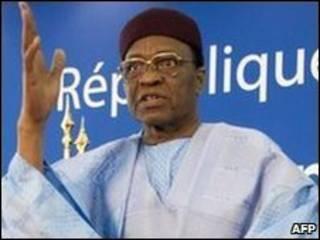 Tổng thống Niger Mamadou Tandja (ảnh tư liệu)