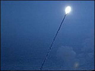 Испытание американской противоракеты