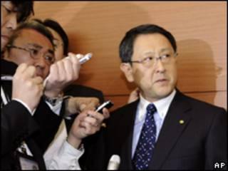El presidente del grupo Toyota, Akio Toyoda