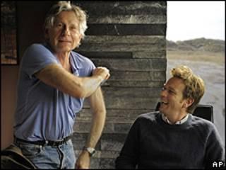 Roman Polanski, junto a Ewan McGregor, durante la grabación de The ghost writer