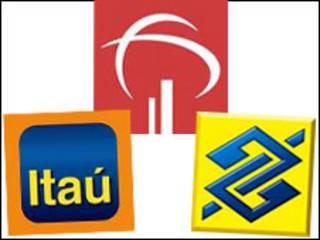 Logomarcas do Bradesco, Itaú e Banco do Brasil