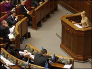 Тимошенко в парламенті. Фото з архіву