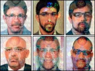 Imagens das fotos nos passaportes falsificados