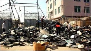 Свалка электроники в Китае