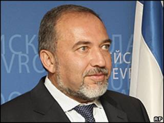 O chanceler israelense, Avigdor Lieberman