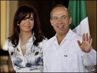 Президенты Аргентины и Мексики на открытии саммита