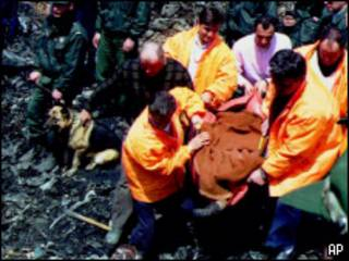 Спасатели на турецкой шахте в 1992 г.