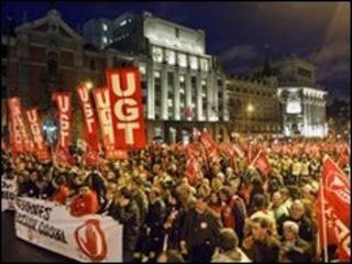 مظاهرة مدريد