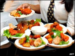 Platos de comida india