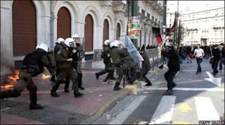 Столкновения в Греции