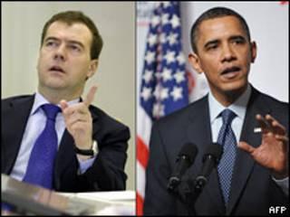 Президенти Медвєдєв і Обама