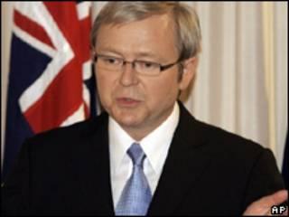 El primer ministro de Australia, Kevin Rudd