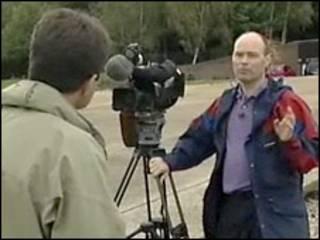 Дэвид Шукман перед камерой