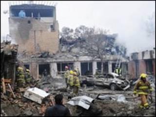 Місце вибуху в Кабулі