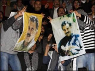 متظاهرون اكراد يطالبون بالافراج عن اوجلان في تركيا