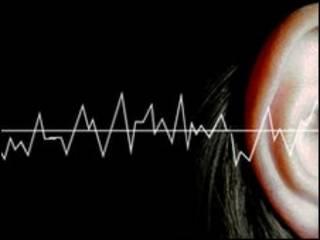 Representação artística de captação do som