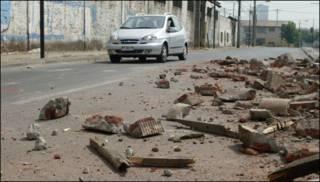 Terremoto en Chile, Santiago.