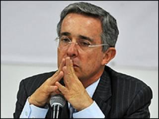 Alvaro Uribe Vélez, presidente de Colombia
