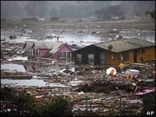 Destrozos en Pullehue tras el terremoto