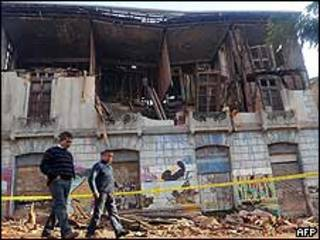 Estrago causado pelos terremotos no CHile