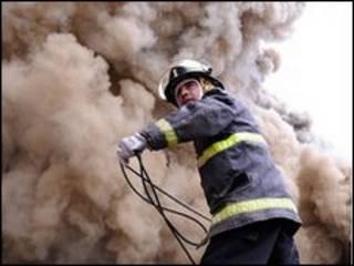 آتش سوزی در فروشگاهی در کانسپسیون