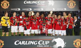 Man United win Carling Cup