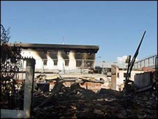 Cárcel quemada en Chillán