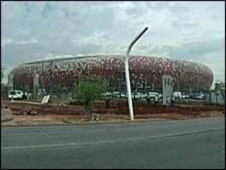 O estádio Soccer City, em Johannesburgo, África do Sul