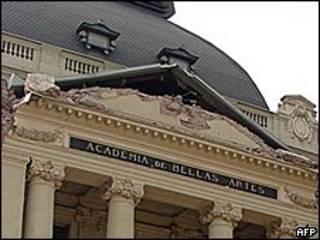 El Museo de Bellas Artes en Santiago