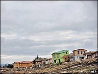 Destrucción en Pullehue, Chile