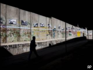 Muro de separação construído por Israel em Belém