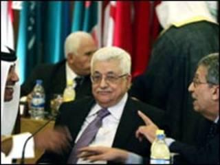 عمرو موسی و محمود عباس