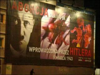 Outdoor de campanha antiaborto na Polônia  (Foto: Fundacja Pro/stopaborcji.pl)