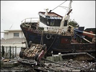 Talcahuano, Chile, após o terremoto