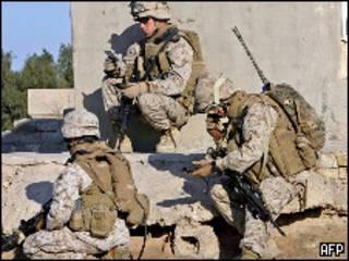 Soldados estadounidenses en Faluya en 2006