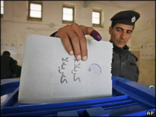 votaciones en Irak