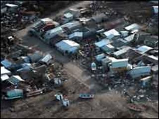 Destruição no Chile